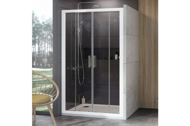 Stumdomos dušo durys Ravak 10°, 10DP4-170, balta+Transparent
