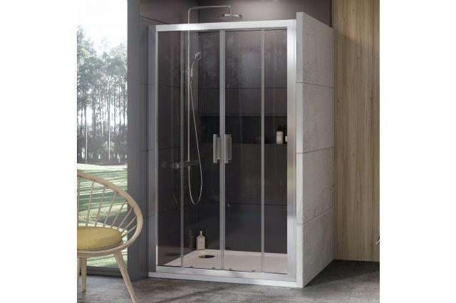 Stumdomos dušo durys Ravak 10°, 10DP4-150, satinas+Transparent