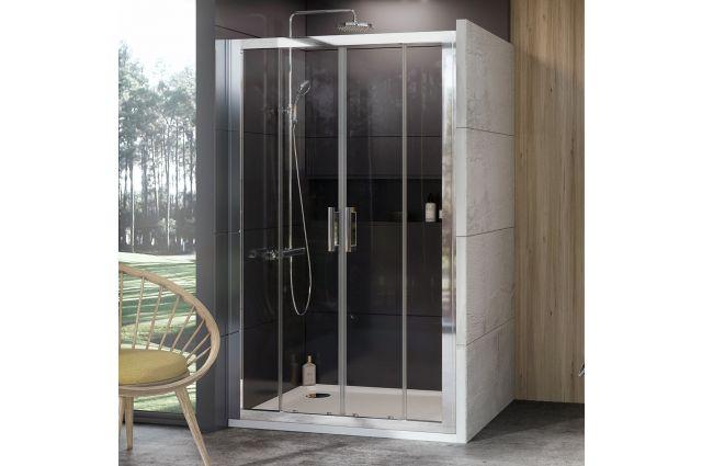 Stumdomos dušo durys Ravak 10°, 10DP4-130, blizgi+Transparent