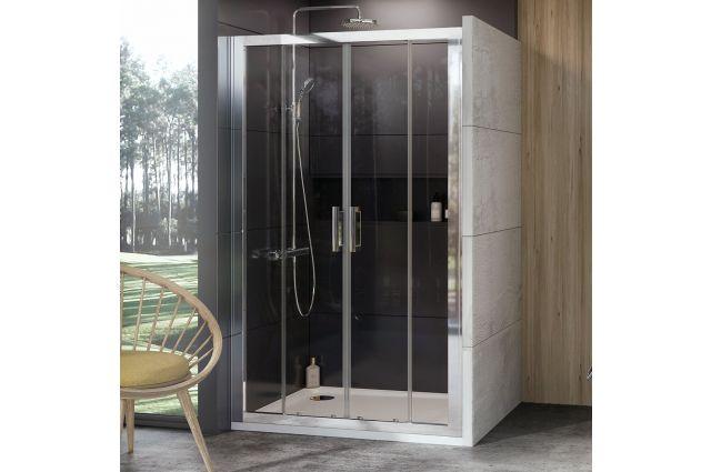 Stumdomos dušo durys Ravak 10°, 10DP4-170, blizgi+Transparent