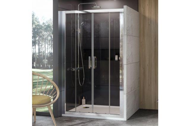 Stumdomos dušo durys Ravak 10°, 10DP4-180, blizgi+Transparent