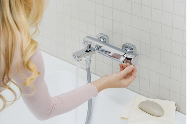 Sieninis vonios maišytuvas Ravak 10° Free, TD F 022.00/150