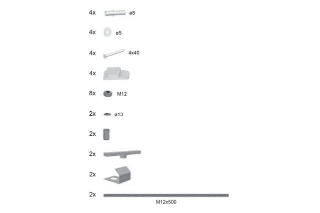 Apdailos plokštės Ravak tvirtinimo komplektas, U serija