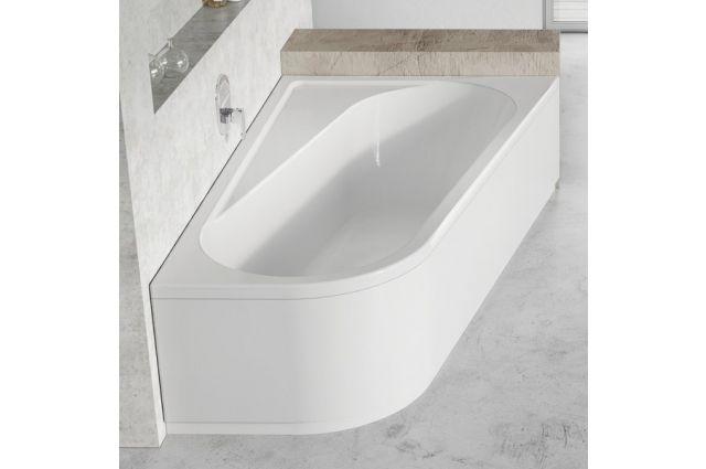 Asimetrinė vonia Ravak Chrome, 170x105, dešininė