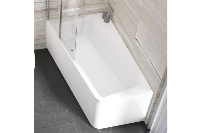 Asimetrinė vonia Ravak 10°, 170x100, kairinė