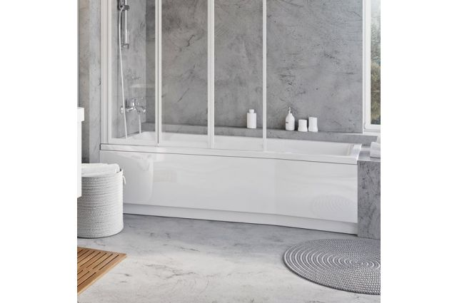 Apdailos plokštė voniai Ravak BeHappy II, 160x75, kairinė