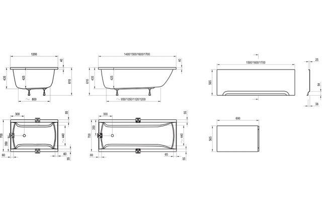 Stačiakampė vonia Ravak Classic, 150x70