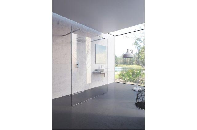 Dušo kabina-stacionari sienelė Ravak Walk-In Free, 120x200 bright alu+Transparent