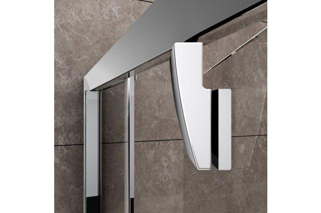 Varstomos dušo durys Ravak Pivot, PDOP1-90, satinas+stiklas Transparent