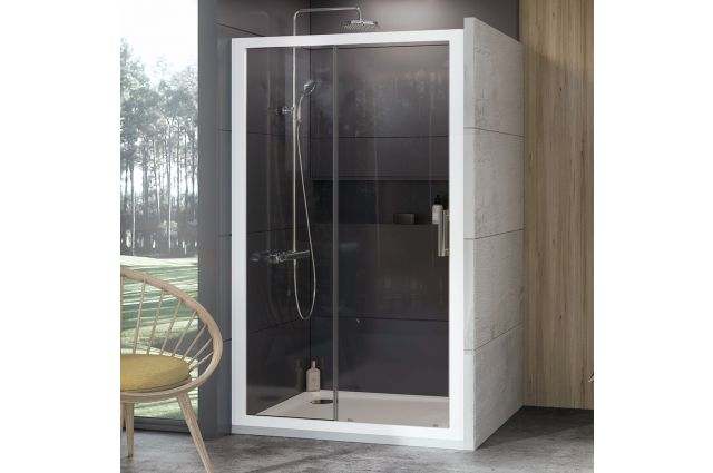 Stumdomos dušo durys Ravak 10°, 10DP2-110, balta+Transparent
