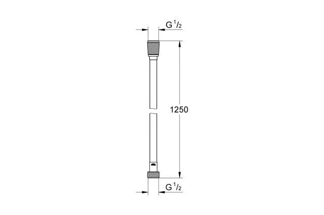 Dušo žarna GROHE Silverflex, 1.25 m