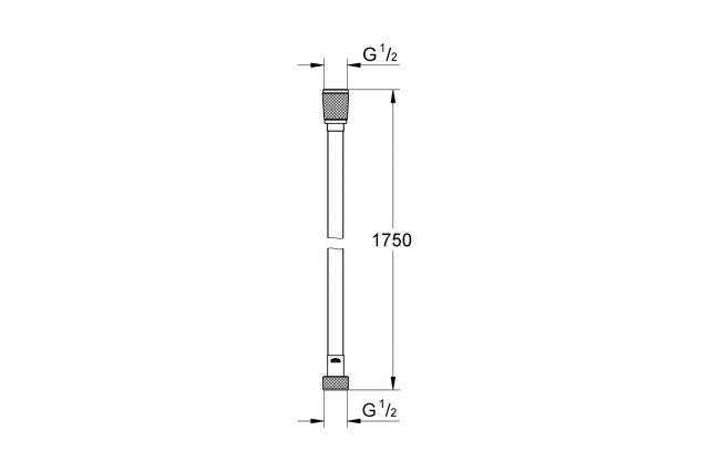 Dušo žarna GROHE Silverflex, 1.75 m