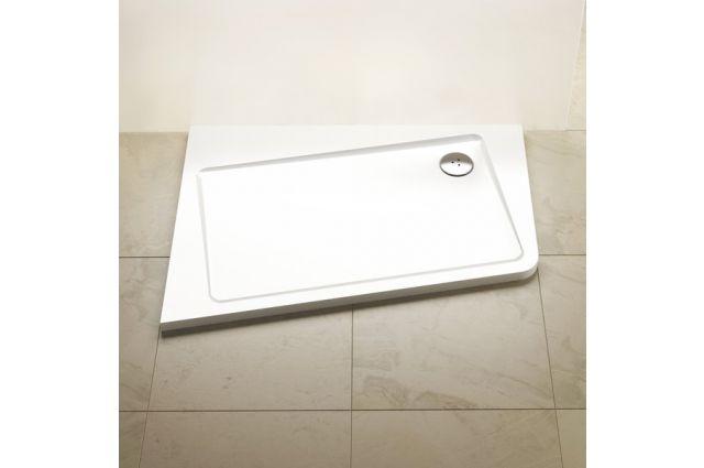 Lietas dušo padėklas Ravak Asymetric Pro 10°, 120x90 L balta
