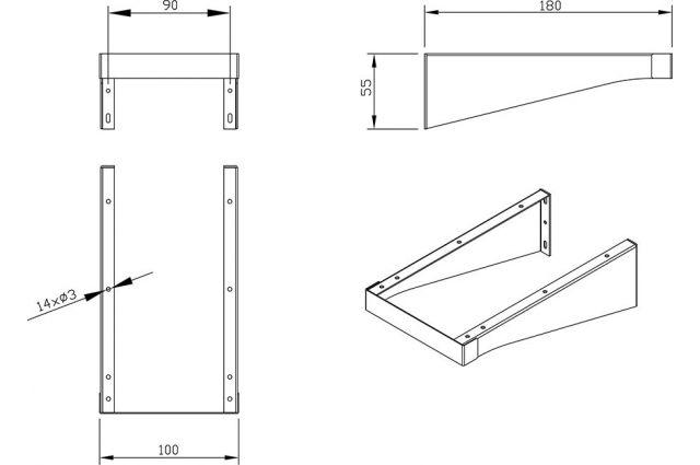 Plokštės konsolė Ravak Balance / Comfort, 1200