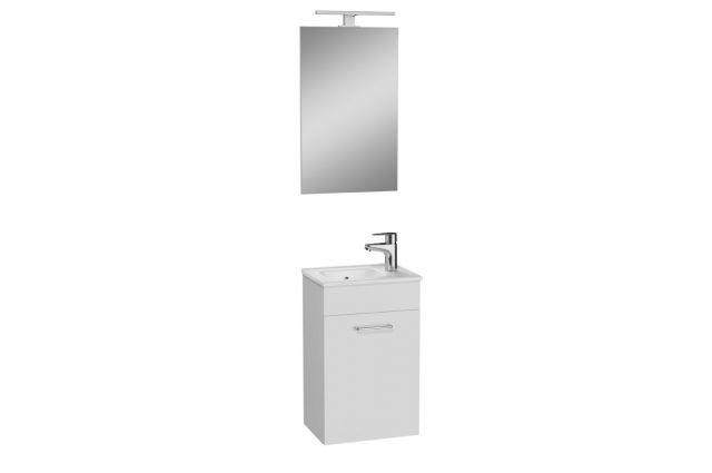 Vonios kambario baldų komplektas Vitra Mia, 40 cm baltas