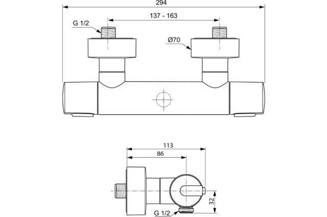 Jaukurai IDEAL STANDARD termostatinis maišytuvas