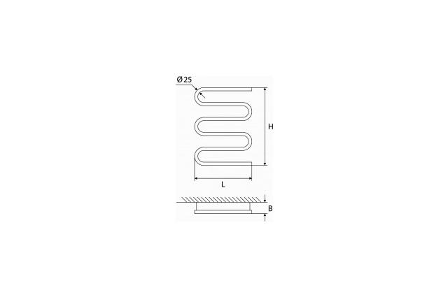 Elektrinis rankšluosčių džiovintuvas-gyvatukas Elonika, EE 400 S5KD 666 DP