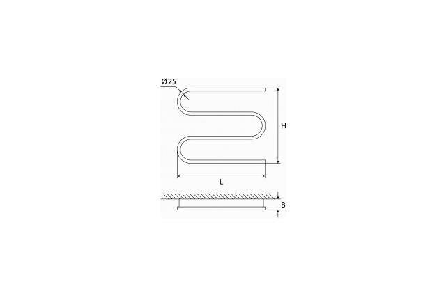 Elektrinis rankšluosčių džiovintuvas-gyvatukas Elonika, EE 400 S3K D.P. 60W