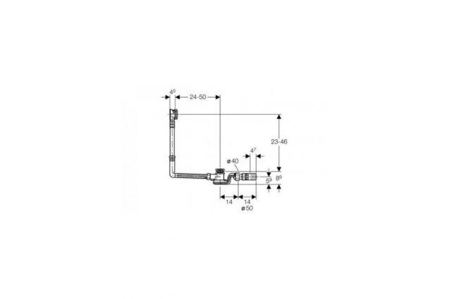 Vonios sifonas Geberit, Uniflex PushControl