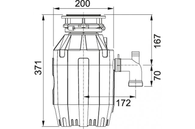 Franke Turbo Elite TE-75 atliekų smulkintuvas Jaukuruose