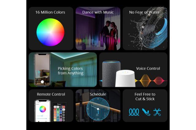 Išmanioji LED RGB juosta Sonoff L1, 2m