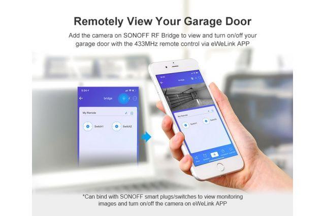 Bevielė Wi-Fi IP apsaugos kamera Sonoff GK200MP2-B