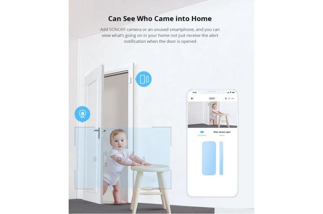 Belaidis Wi-Fi durų / langų daviklis Sonoff DW2, DW2