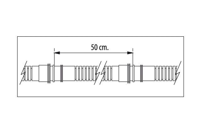 Vamzdelis kondensato nuvedimui Tecnosystemi, Ø20 gofruotas lankstus sustiprintas (50 m)