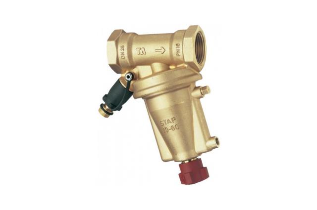 STAP slėgio perkričio reguliatorius (2-25kPa) su kapiliariniu vamzdeliu ir pereinamaisiais antgaliais DN15