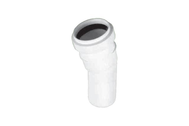 Vidaus kanalizacijos alkūnė HTB, d 32, , 45*, balta