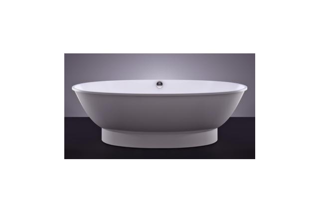Akmens masės vonia Vispool Gloria, 184x90 balta