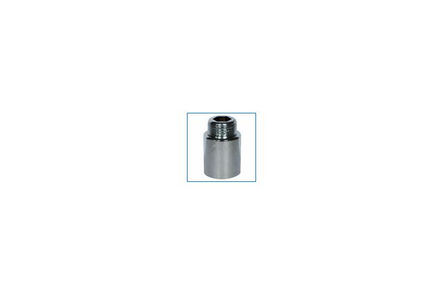 Žalvarinis chromuotas pailginimas, d , 1/2'', 40 mm