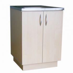Virtuvinė spintelė uždedamai plautuvei, 60 cm, balintas beržas (be plautuvės)