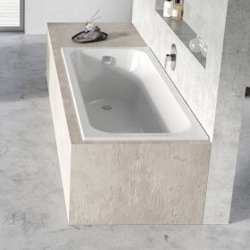 Stačiakampė vonia Ravak Chrome Slim, 150x70 sniego baltumo