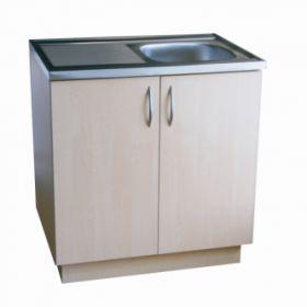 Virtuvinė spintelė uždedamai plautuvei, 80 cm, balintas beržas (be plautuvės)