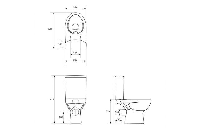 Jaukurai WC Cersanit Parva Clean-On