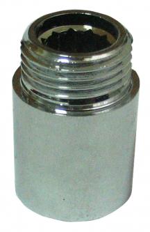 Žalvarinis chromuotas pailginimas VIEGA, d 1/2', , 20 mm