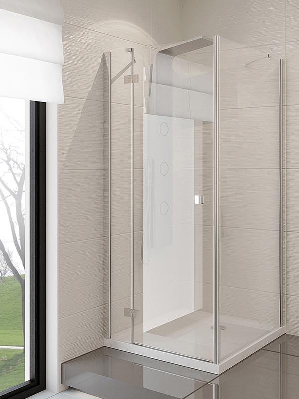 Dušo kabina New Trendy Modena, 120x90 cm, dešininė, skaidrus stiklas