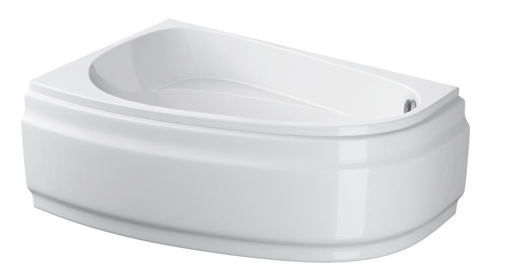 Akrilo vonia Cersanit Joanna, 150x95 kairinė