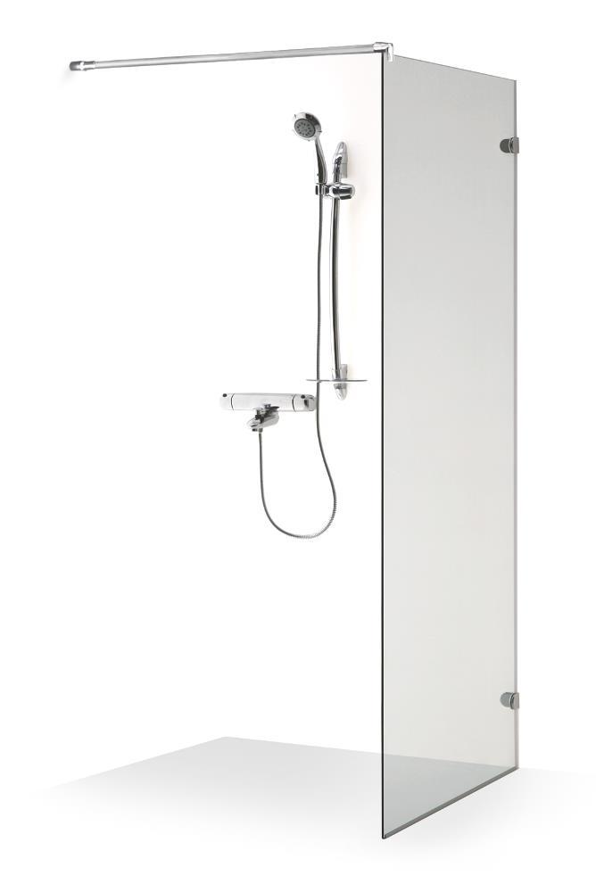 Berėmė sienelė Baltijos Brasta, Dora 90x190 dušui, skaidrus stiklas