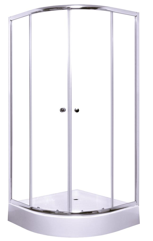 Pusapvalė dušo kabina S-Line, Anima 90x90