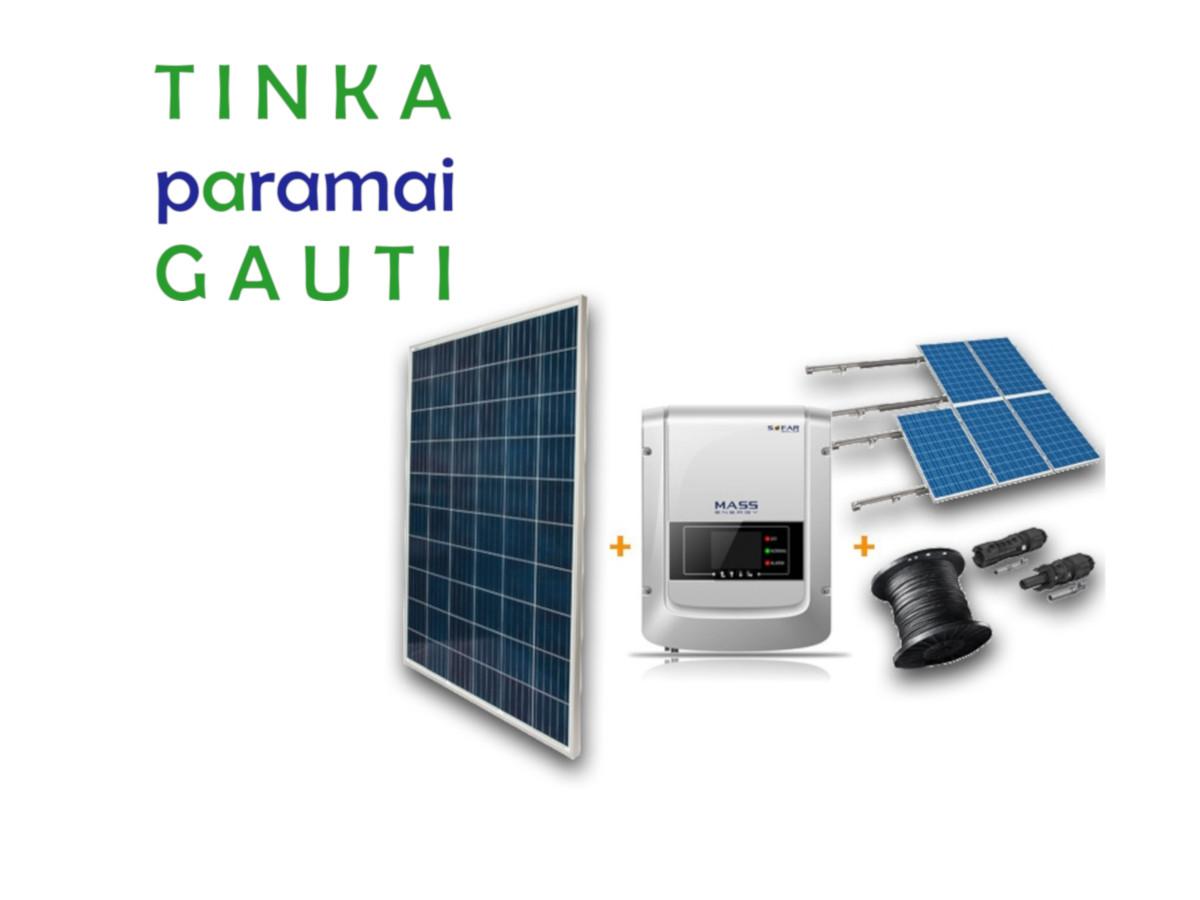 Saulės fotovoltinės elektrinės tinka APVA paramai gauti