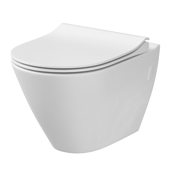 Jaukurai WC Cersanit City Oval CleanOn + dangtis Soft-Close