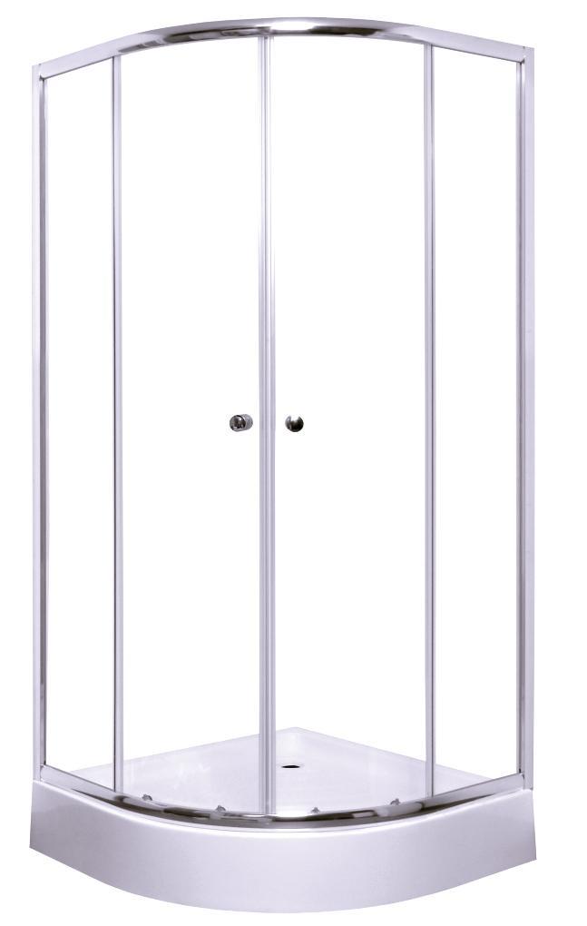 Pusapvalė dušo kabina S-Line, Anima 80x80