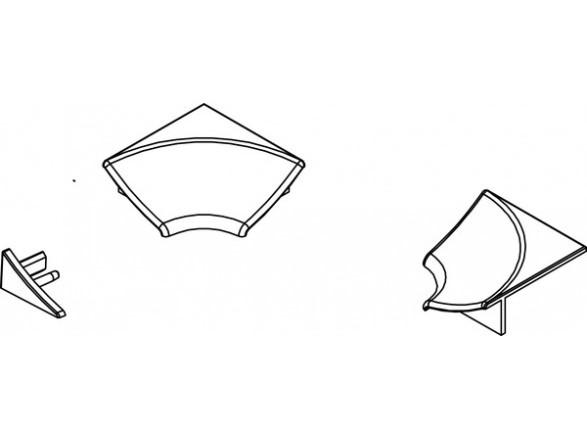 Jaukurai apdailos juostelės kampelių komplektas tipas 11