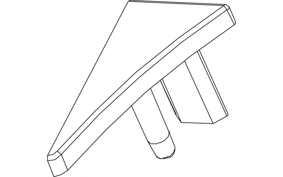 Jaukurai apdailos juostelės kampelis tipas 10