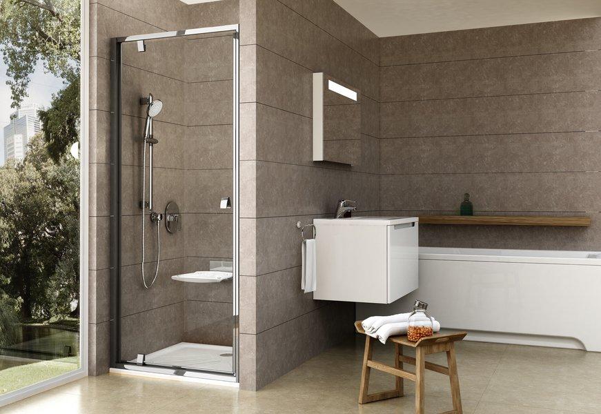 Varstomos dušo durys Ravak Pivot, PDOP1-90, blizgi+stiklas Transparent