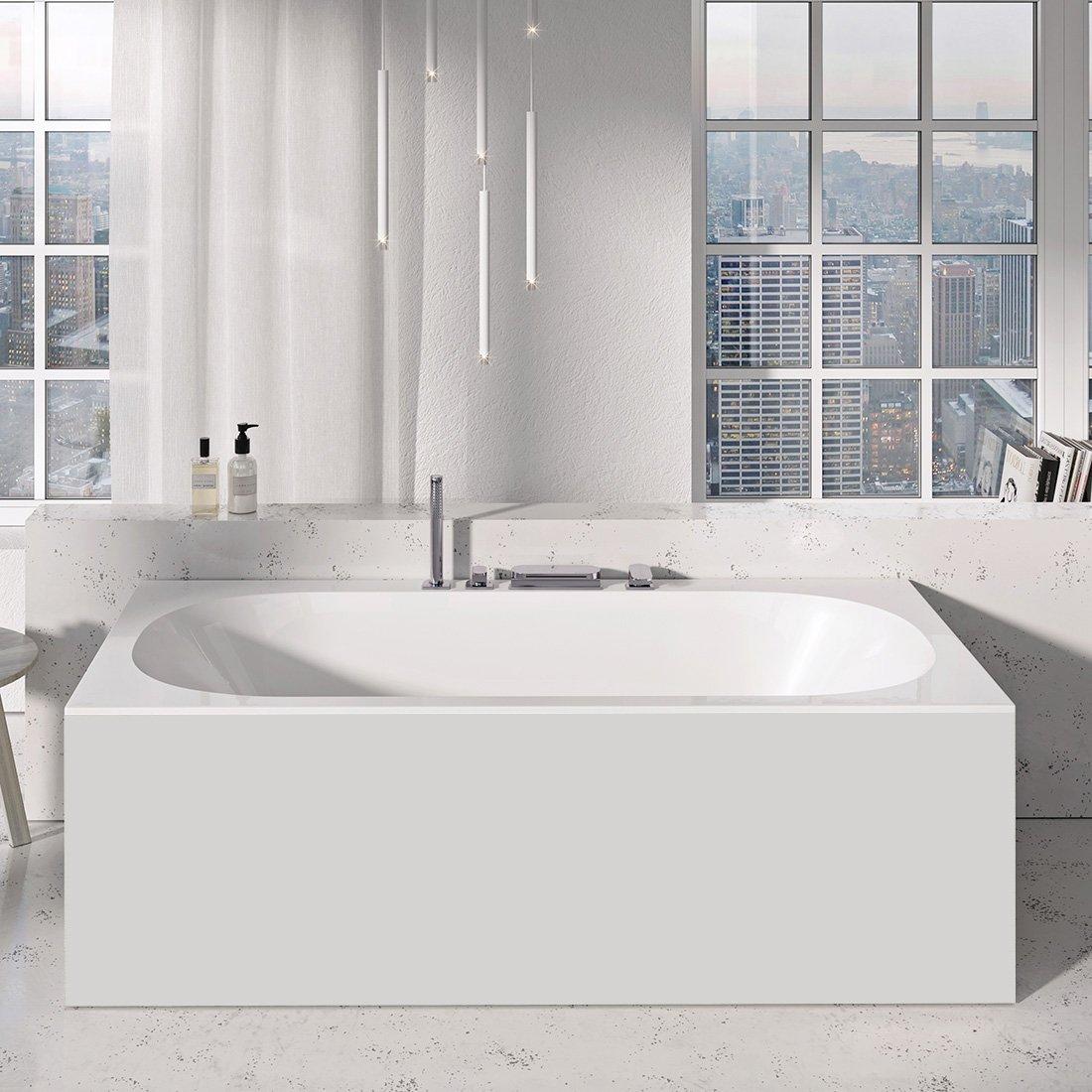 Apdailos plokštė voniai Ravak City/City Slim, priekinė, 180 balta