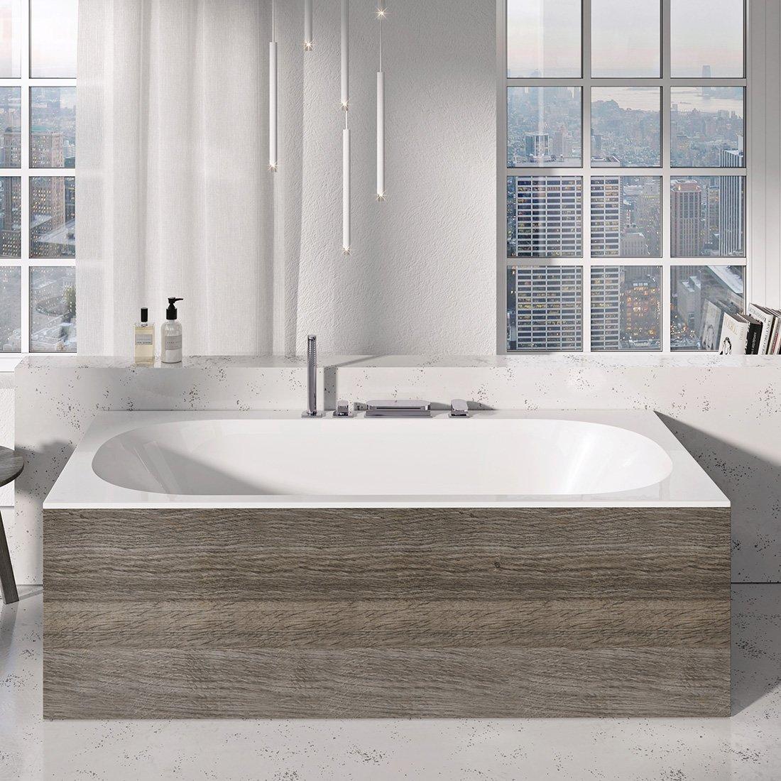 Apdailos plokštė voniai Ravak City/City Slim, priekinė, 180 riešutas