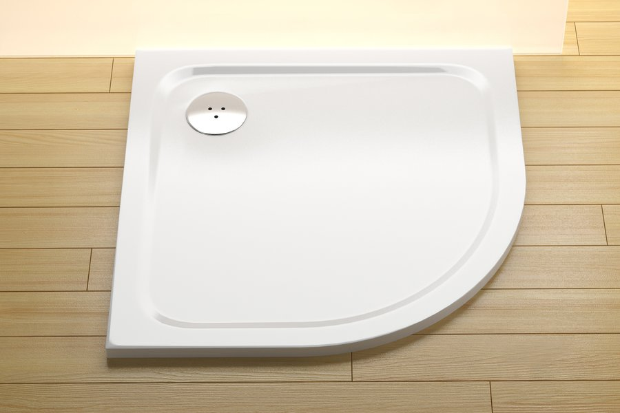 Lietas dušo padėklas Ravak Elipso Pro Chrome, 80 baltas